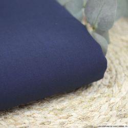 Crêpe de soie et laine bleu