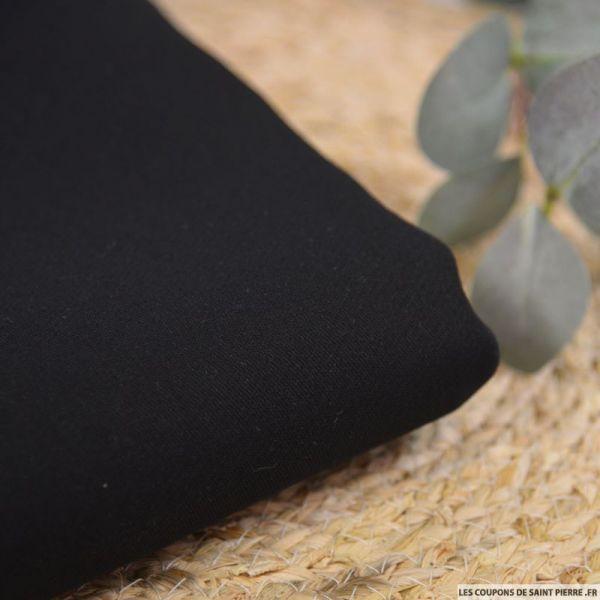 Crêpe de soie et laine noir