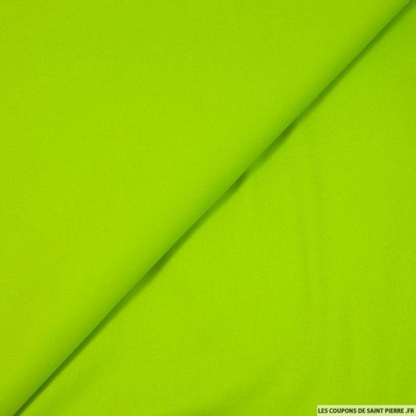 Satin de coton elasthane vert pomme