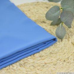 Popeline de coton rayé bleu foncé et blanc