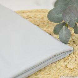 Toile de soie acétate gris givré