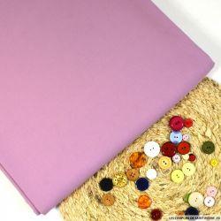 Gabardine de coton rose pâle lourd