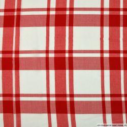 Viscose à carreaux rouge et blanc
