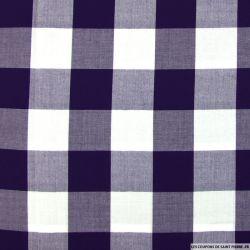 Viscose à carreaux violet et blanc