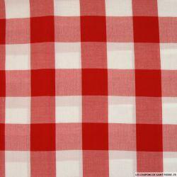 Viscose à carreaux rouge et blanc 4cm