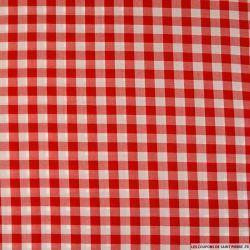 Viscose vichy rouge et blanc 1cm