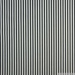 Polycoton à rayure noir et blanc