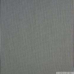 Polycoton à rayure noir et blanc 0.2cm