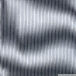 Polycoton à rayure bleu et blanc 0.2cm