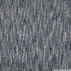 Tweed polyester superbe bleu