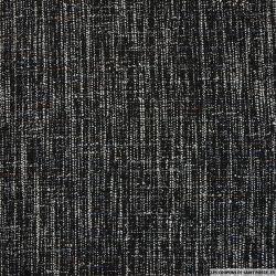 Tweed polyester superbe noir