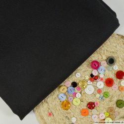 Sergé de laine vierge noir