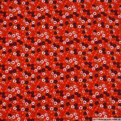 Coton imprimé promenade légère fond rouge
