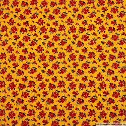 Coton imprimé pas de chichi fond jaune