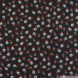 Coton imprimé feeling good fond noir