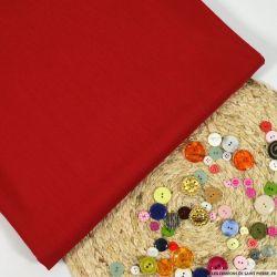 Tissu tailleur laine et soie rouge