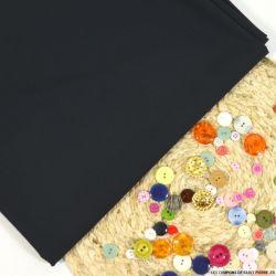 Tissu tailleur laine et soie bleu foncé