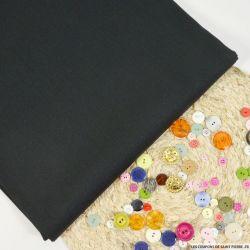 Toile de soie shantung noir