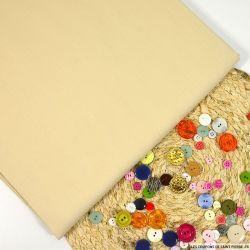 Toile de soie shantung beige