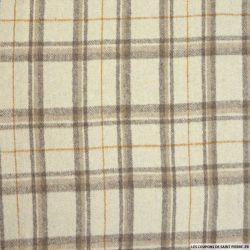 Flanelle polyester tartan sable