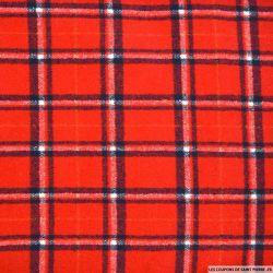 Flanelle polyester tartan rouge