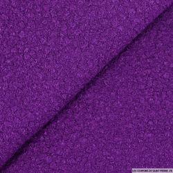 Lainage bouclette violet