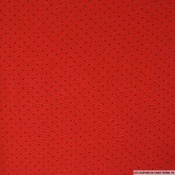 Viscose imprimé à pois sur fond rouge