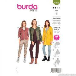 Patron Burda n°6197: Tunique porte-feuille ceinture apparente femme