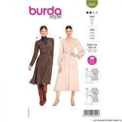 Patron Burda n°6091: Robe cintrée