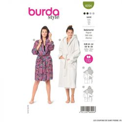 Patron Burda n°6094: Peignoire
