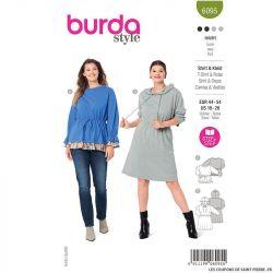 Patron Burda n°6095: T-shirt & Robe