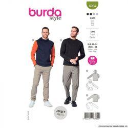 Patron Burda n°6064 : T-shirt Homme
