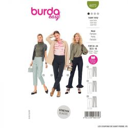 Patron Burda n°6072 : pantalon super facile