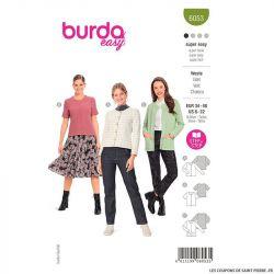 Patron Burda n°6053 : Veste
