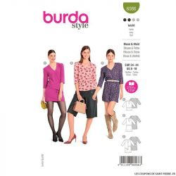 Patron Burda n°6086 : Blouse & Robe