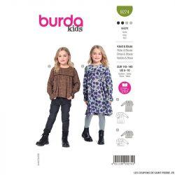 Patron Burda n°9274 : Enfant robe & blouse