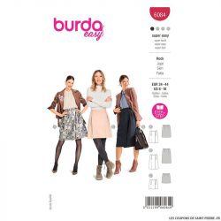Patron Burda n°6084 : Jupe