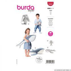 Patron Burda n°6044 : Animal en peluche, Lapin et Baleine