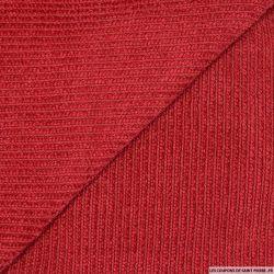 Maille chenille côtelée rouge