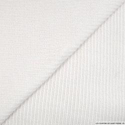 Maille chenille côtelée blanc