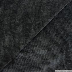 Maille chenille noir