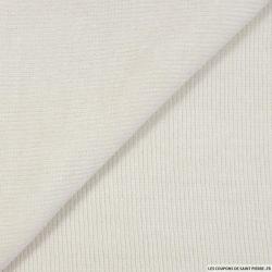 Maille chenille blanc