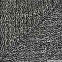 Jersey chevron noir et blanc