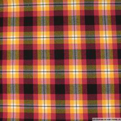 Clan écossais framboise, noir et jaune soleil