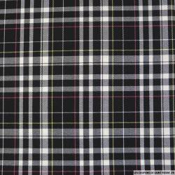 Clan écossais rose, noir et blanc