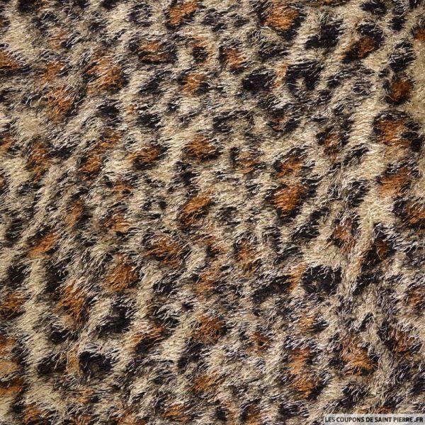 Maille à poil long léopard