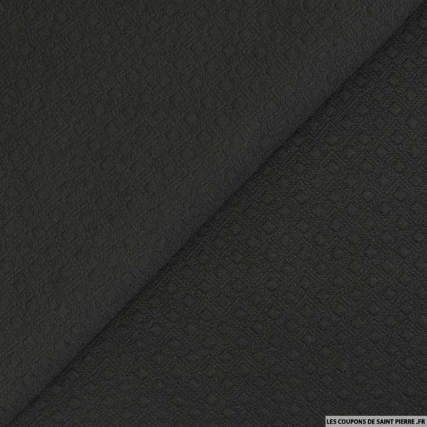 Jersey matelassé polyester fantaisie noir