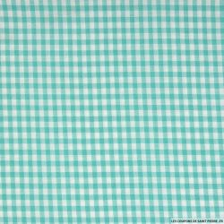 Vichy polyester turquoise 4mm