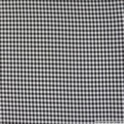 Vichy polyester noir 4mm