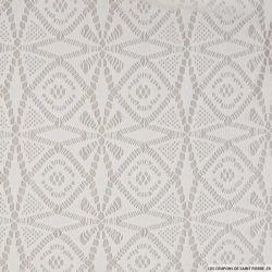 Jersey de dentelle contrecollée blanc